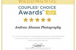 Top San Diego Wedding Photographer WeddingWire 2014 Andrew Abouna