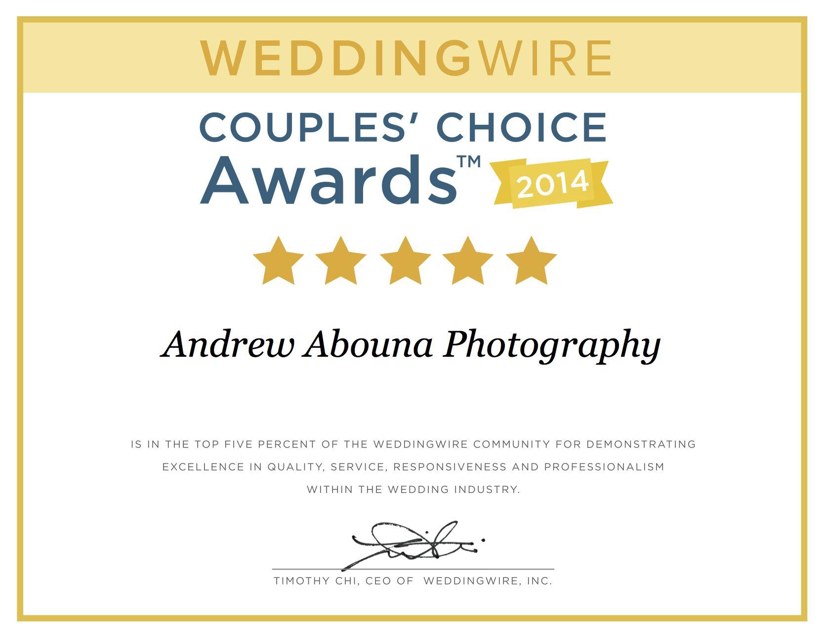 Our National Award as Top San Diego Photographers