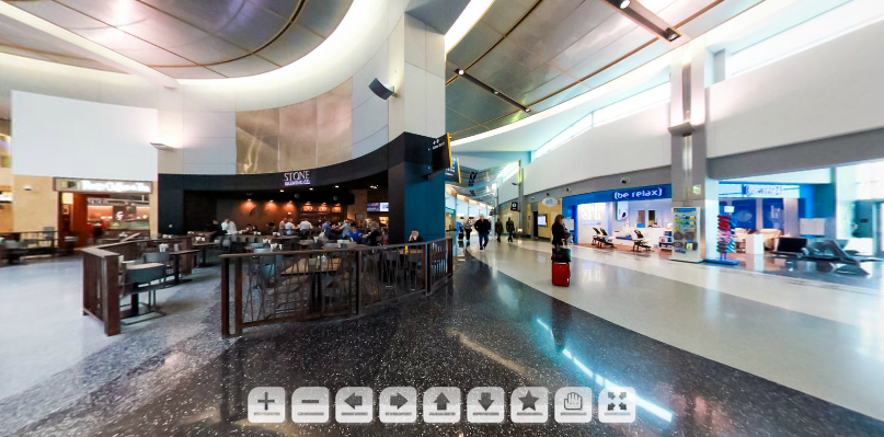 San Diego Airport Virtual Tour of Terminal 2 Stone Brewery by Andrew Abouna Photography
