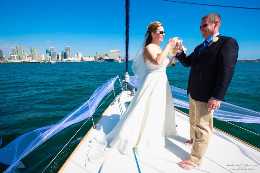 Laura and Dave Yacht Wedding Photos by San Diego Wedidng Photographer Andrew Abouna