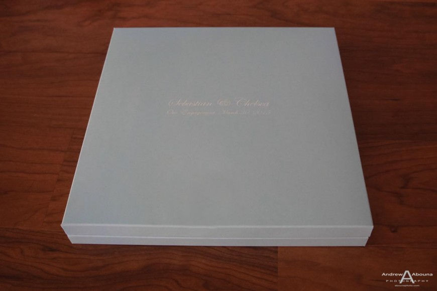 Engagement portait album book with your favorite photos by San Diego Photographer Andrew Abouna