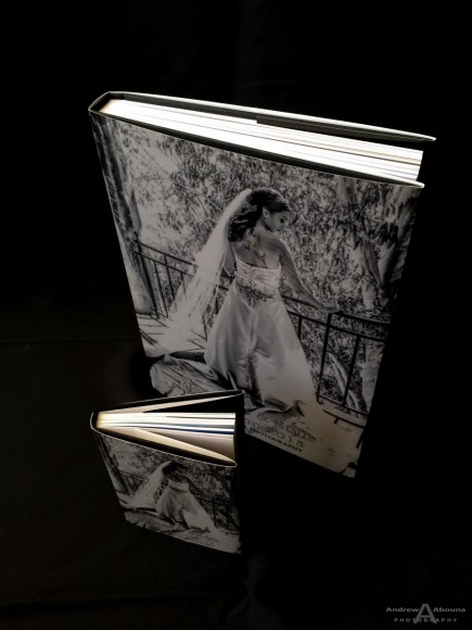 Traditional Slip Cover 8x12 Wedding Album and 4x5 Parent Book_GraphiStudio Italy by San Diego Photographer Andrew Abouna-1