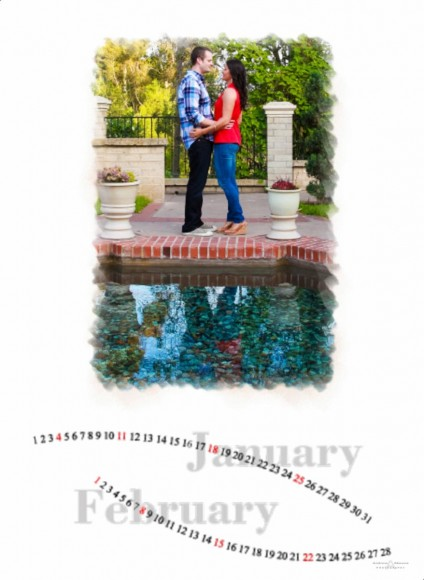 Wedding Guest Book Album Calender for Rachel and Shane - San Diego Wedding Photographers Andrew Abouna