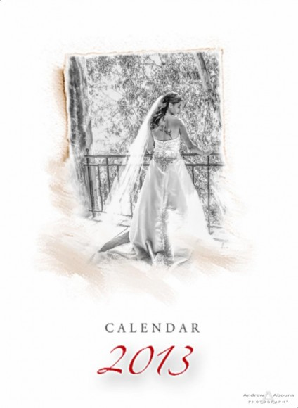 Wedding Photographer Portfolio Album - Calendar with Wedding Album - Page 1 - San Diego Wedding Photographers Andrew Abouna