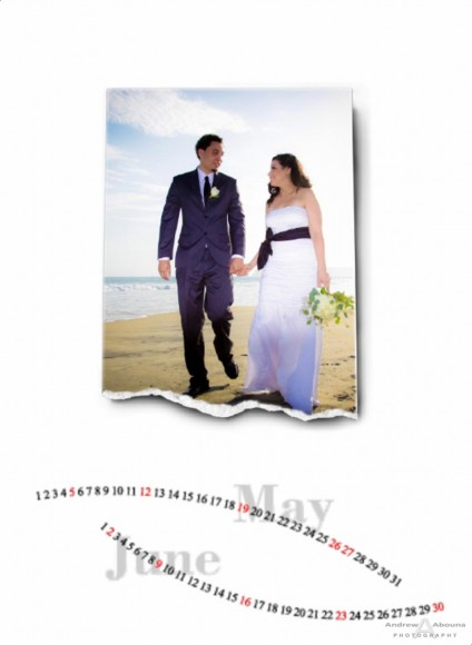 Wedding Photographer Portfolio Album - Calendar with Wedding Album - Page 4 - San Diego Wedding Photographers Andrew Abouna