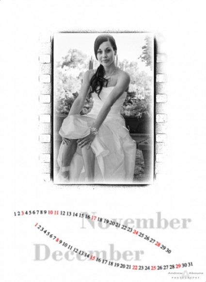 Wedding Photographer Portfolio Album - Calendar with Wedding Album - Page 7 - San Diego Wedding Photographers Andrew Abouna