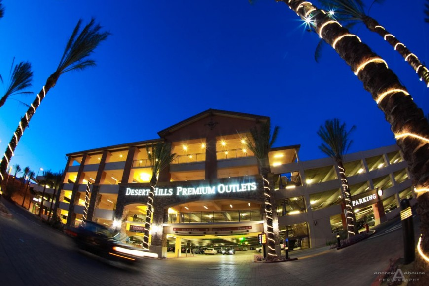 ParkHelp USA Guidance Commercial Photography of Desert Hills Premium Outlets by San Diego Photographer Andrew Abouna