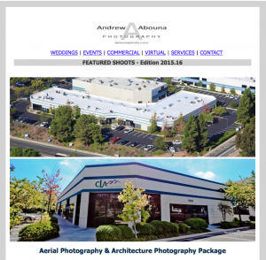 San Diego Photographer Andrew Abouna Newlstter - Aerial Photography and Liver Foundation Photography Donation 2015-16