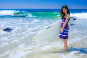 Surfer Girl Photos of Kathryn by San Diego Photograher Andrew Abouna
