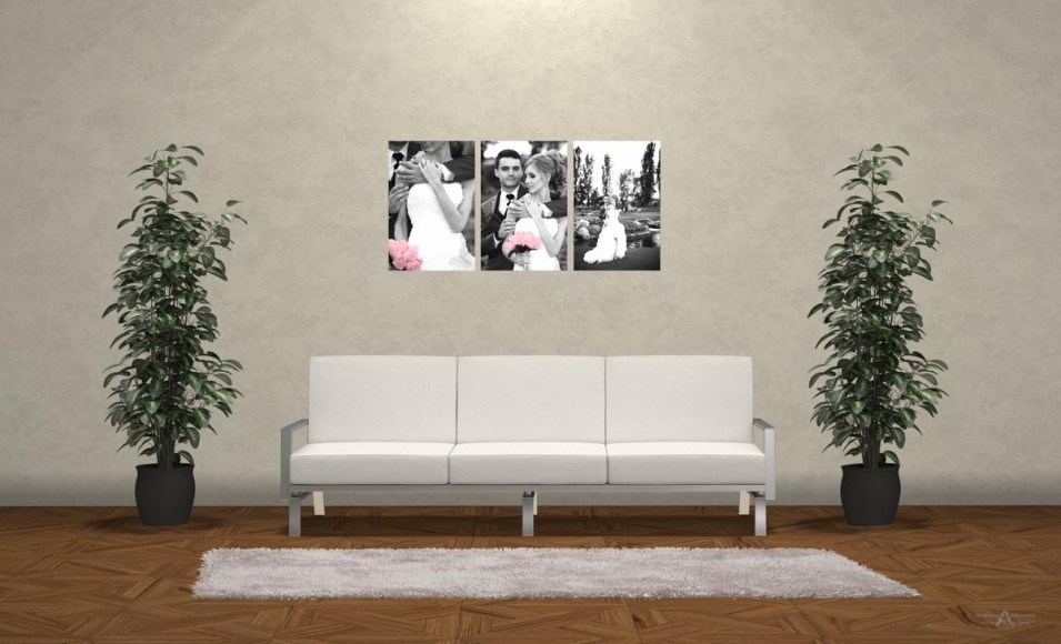 Wedding Photo Print Ideas Wall Display Mockup by San Diego Photographer Andrew Abouna 3bw