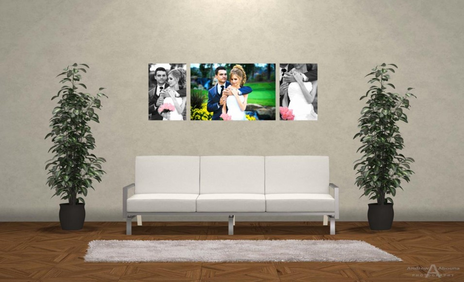 Wediding Photo Print Ideas Wall Display Mockup by San Diego Photographer Andrew Abouna 1bw2