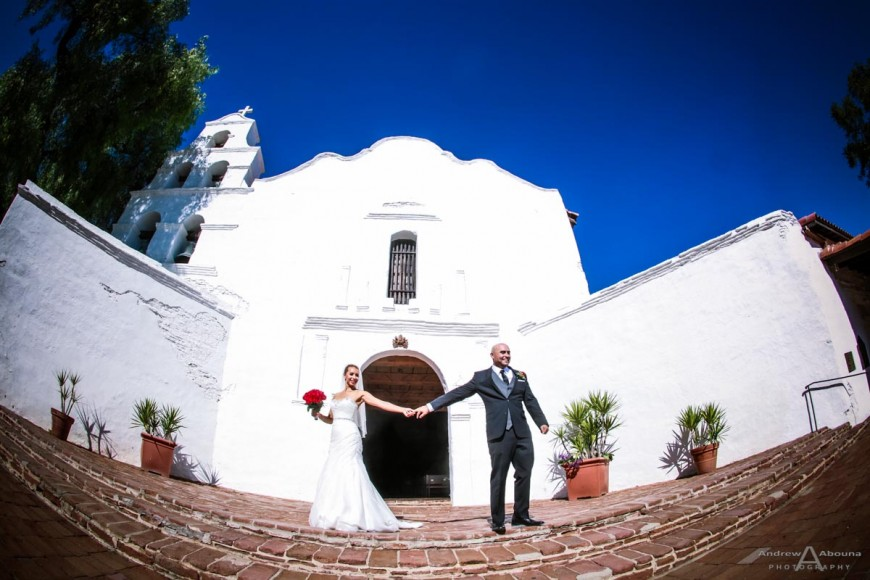Valerie and Raul Mission San Diego de Alcala Wedding by San Diego Wedding Photographers Andrew Abouna