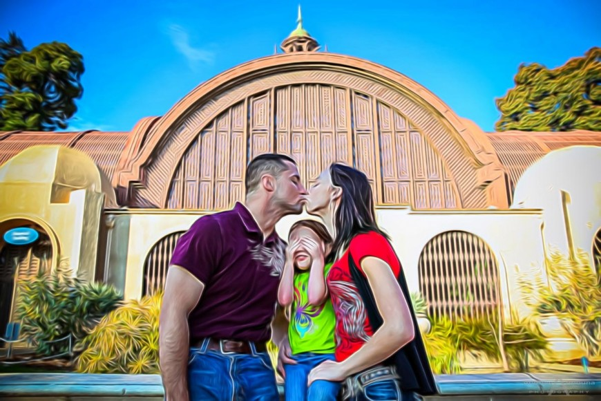 Whitney Justin and Family Balboa Park Portraits by San Diego Photographer Andrew Abouna