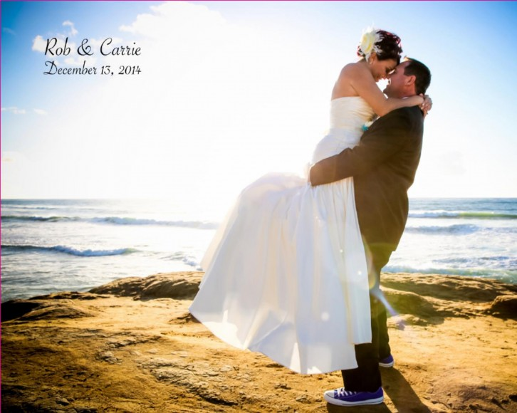 Carrie and Rob Wedding Album by San Diego Wedding Photographer-cover