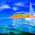 Marlow-Hunter 44 sailboat heading pas Point Loma