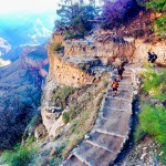 Running Bright Angel Trail, Grand Canyon
