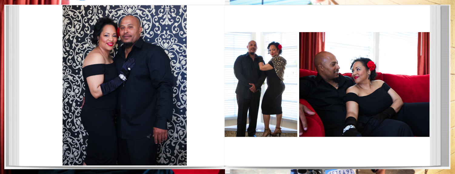 Wedding Guest Book with Engagement Photos for Rob and Malika by San Diego Wedding Photogrrapher Andrew Abouna-Pages 2-3