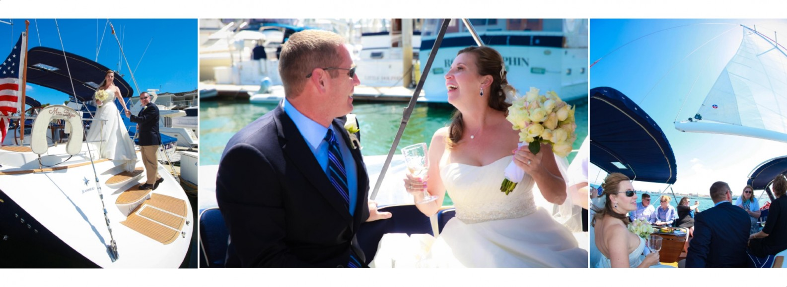 Laura and Davids Wedding Book - San Diego Yacht Wedding by Wedding Photographers Andrew Abouna - Pages 10-11