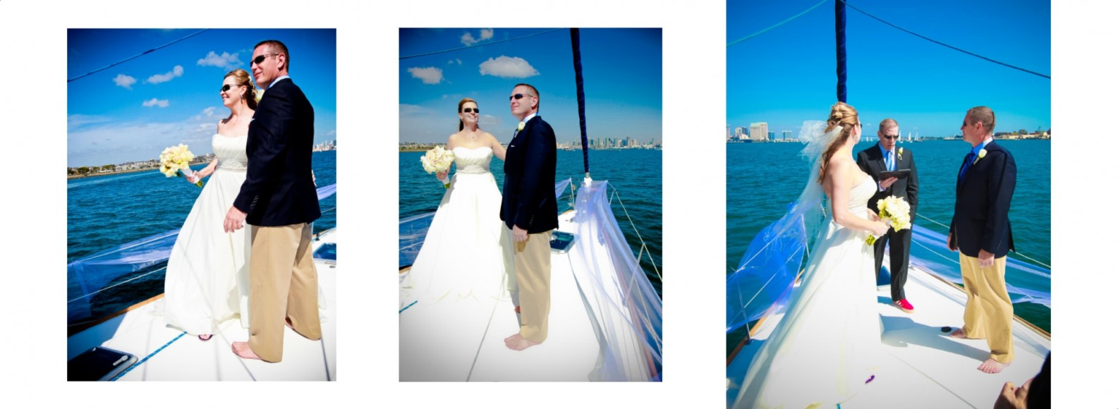 Laura and Davids Wedding Book - San Diego Yacht Wedding by Wedding Photographers Andrew Abouna - Pages 12-13