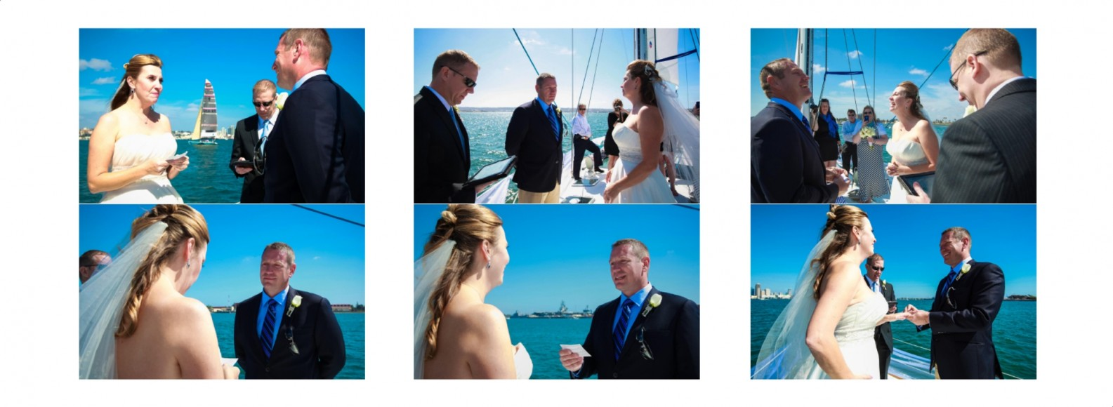Laura and Davids Wedding Book - San Diego Yacht Wedding by Wedding Photographers Andrew Abouna - Pages 16-17