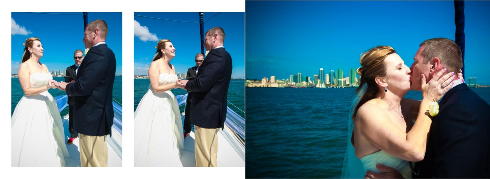 Laura and Davids Wedding Book - San Diego Yacht Wedding by Wedding Photographers Andrew Abouna - Pages 18-19