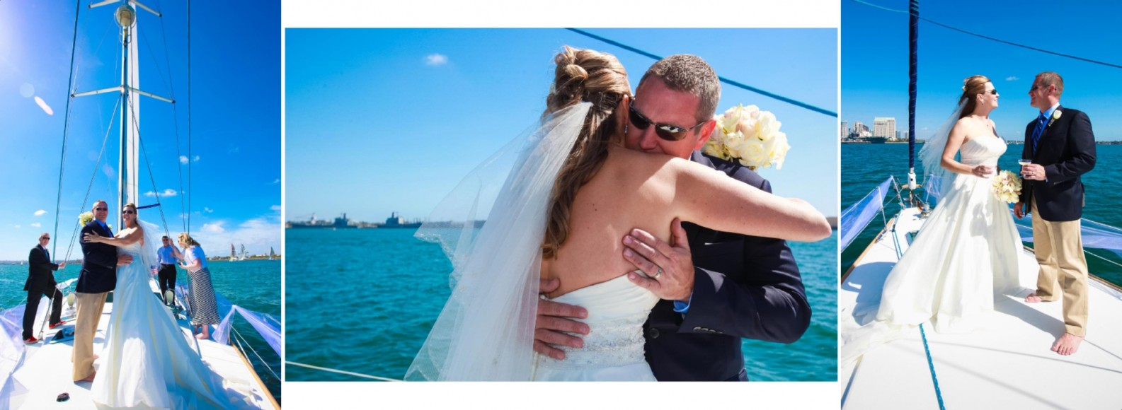 Laura and Davids Wedding Book - San Diego Yacht Wedding by Wedding Photographers Andrew Abouna - Pages 20-21