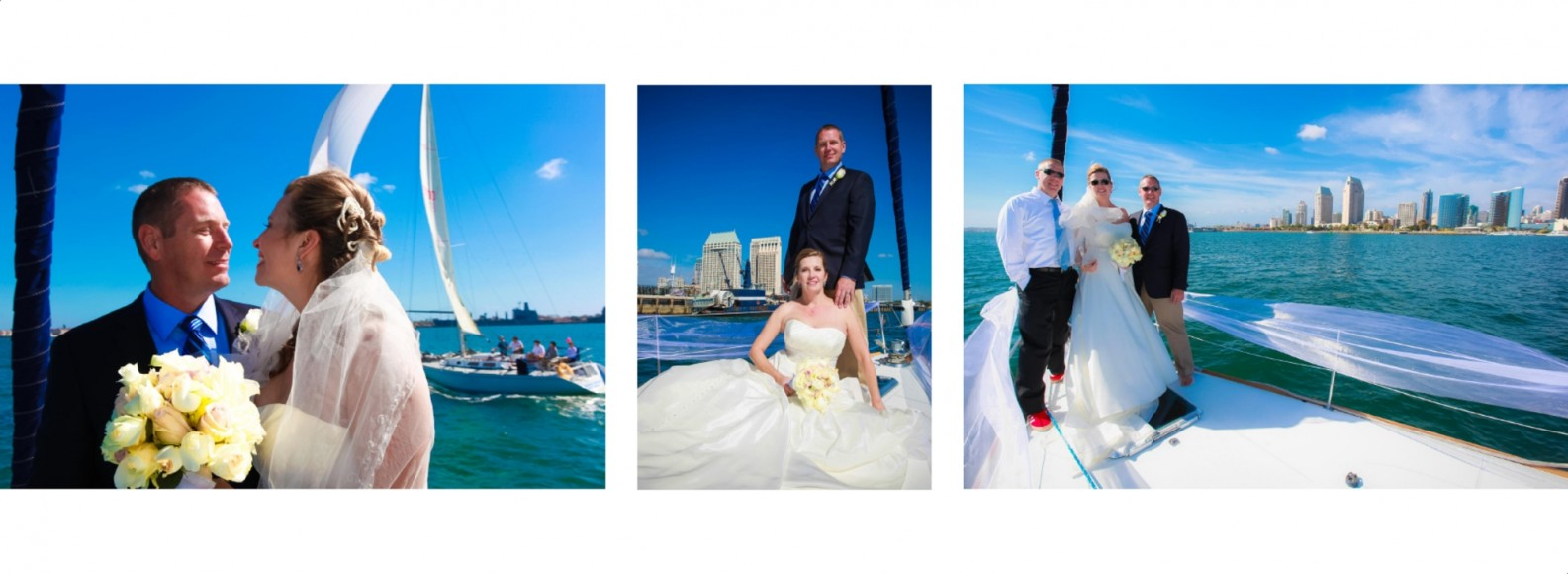Laura and Davids Wedding Book - San Diego Yacht Wedding by Wedding Photographers Andrew Abouna - Pages 24-25