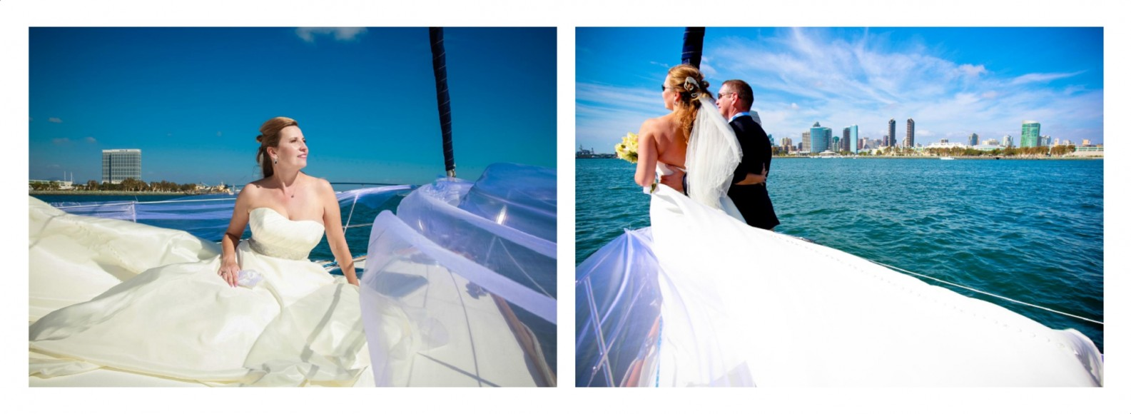 Laura and Davids Wedding Book - San Diego Yacht Wedding by Wedding Photographers Andrew Abouna - Pages 26-27
