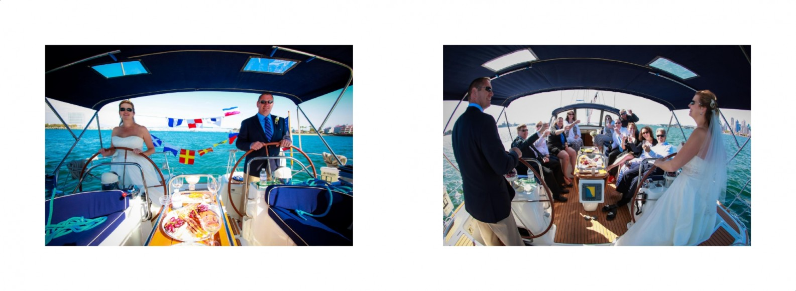 Laura and Davids Wedding Book - San Diego Yacht Wedding by Wedding Photographers Andrew Abouna - Pages 28-29