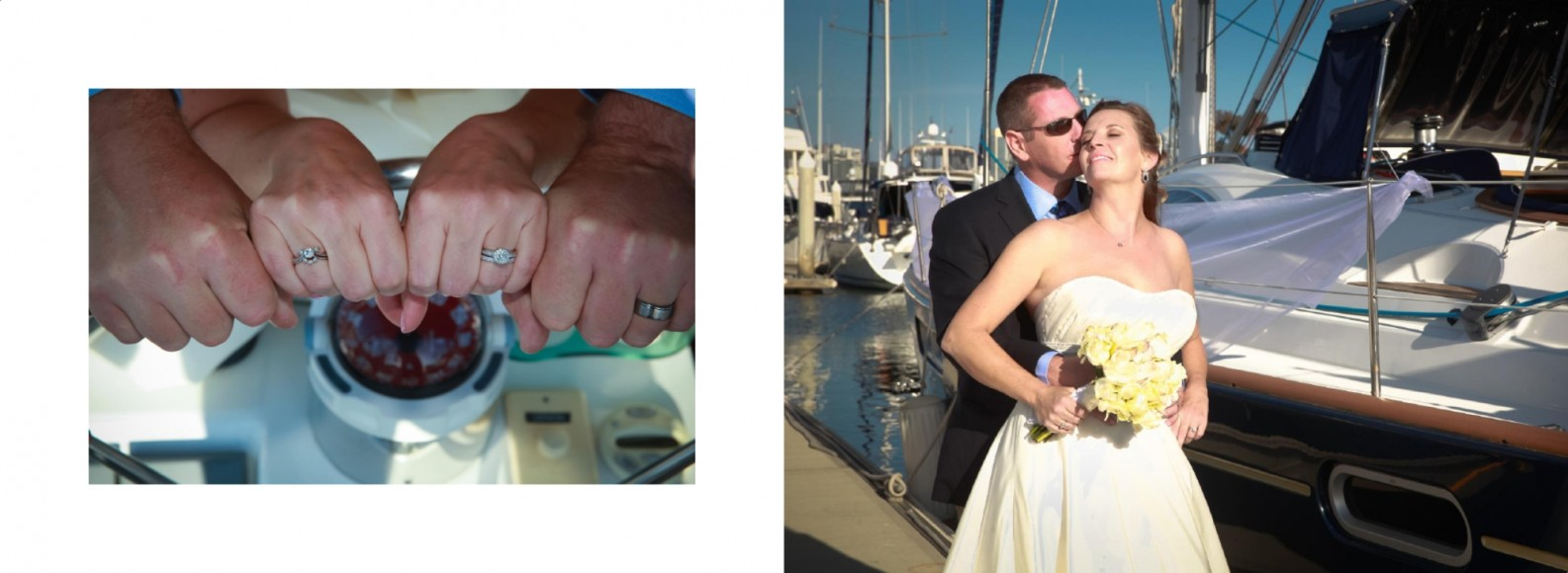 Laura and Davids Wedding Book - San Diego Yacht Wedding by Wedding Photographers Andrew Abouna - Pages 34-35