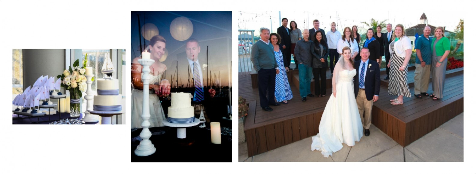 Laura and Davids Wedding Book - San Diego Yacht Wedding by Wedding Photographers Andrew Abouna - Pages 40-41