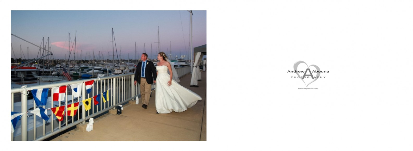 Laura and Davids Wedding Book - San Diego Yacht Wedding by Wedding Photographers Andrew Abouna - Pages 43-44