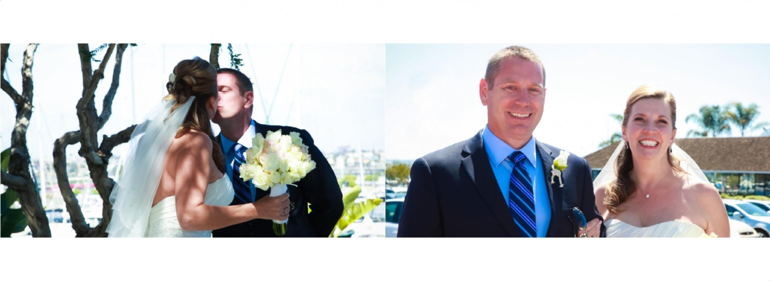 Laura and Davids Wedding Book - San Diego Yacht Wedding by Wedding Photographers Andrew Abouna - Pages 8-9