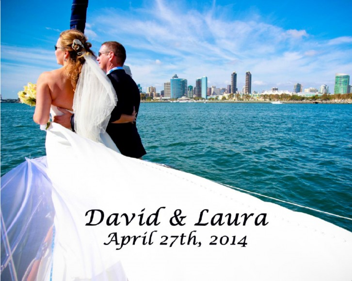 Laura and Davids Wedding Book - San Diego Yacht Wedding by Wedding Photographers Andrew Abouna - cover