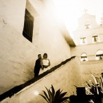 Newlyweds at Mission Basilica San Diego de Alcalá by AbounaPhoto