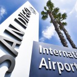 San Diego International Airport SAN sign with California Palms by San Diego Photographer Andrew Abouna