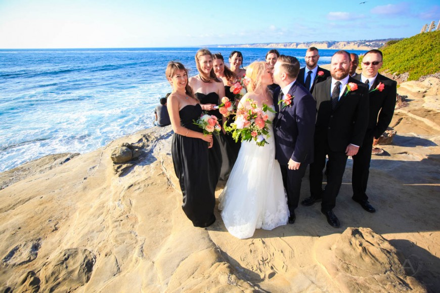 Amber and Sean La Jolla Cove wedding photos by San Diego Wedding Photographer Andrew Abouna