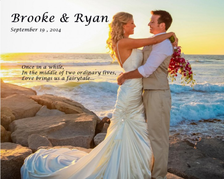 Brooke & Ryan's Wedding Book Compliments their Wedding by San Diego Wedding Photographers Andrew Abouna