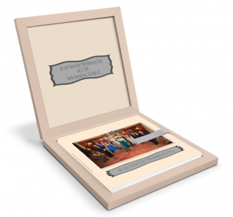 Oster 50th Wedding Anniversary Photos Book by San Diego Photographer Andrew Abouna - Box Open