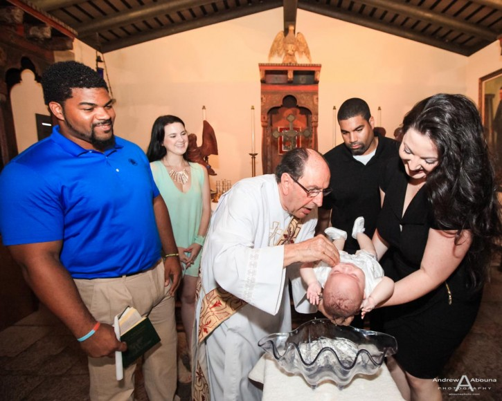 Baby Andre Christening Photos at Mission San Diego by Photographer AbounaPhoto
