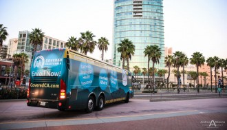 Ogilvy Public Relations CoveredCA Tour Bus San Diego Convention Center Commercial Photography - AbounaPhoto-7493