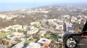 Aerial Photography San Diego over UCSD Helicopter Photo Flight with AbounaPhoto