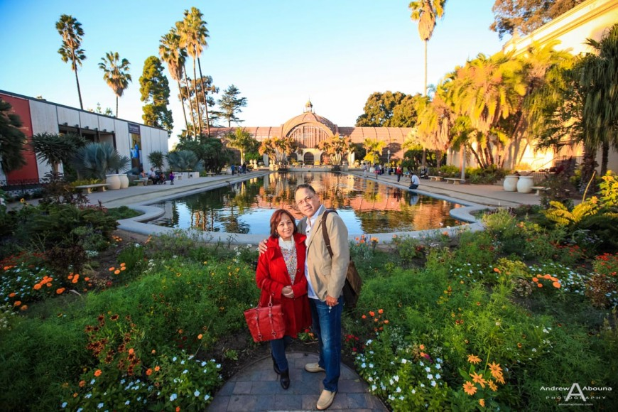 Leonora and Sam Balboa Park Engagement Photos by Wedding Photographer in San Diego Andrew Abouna