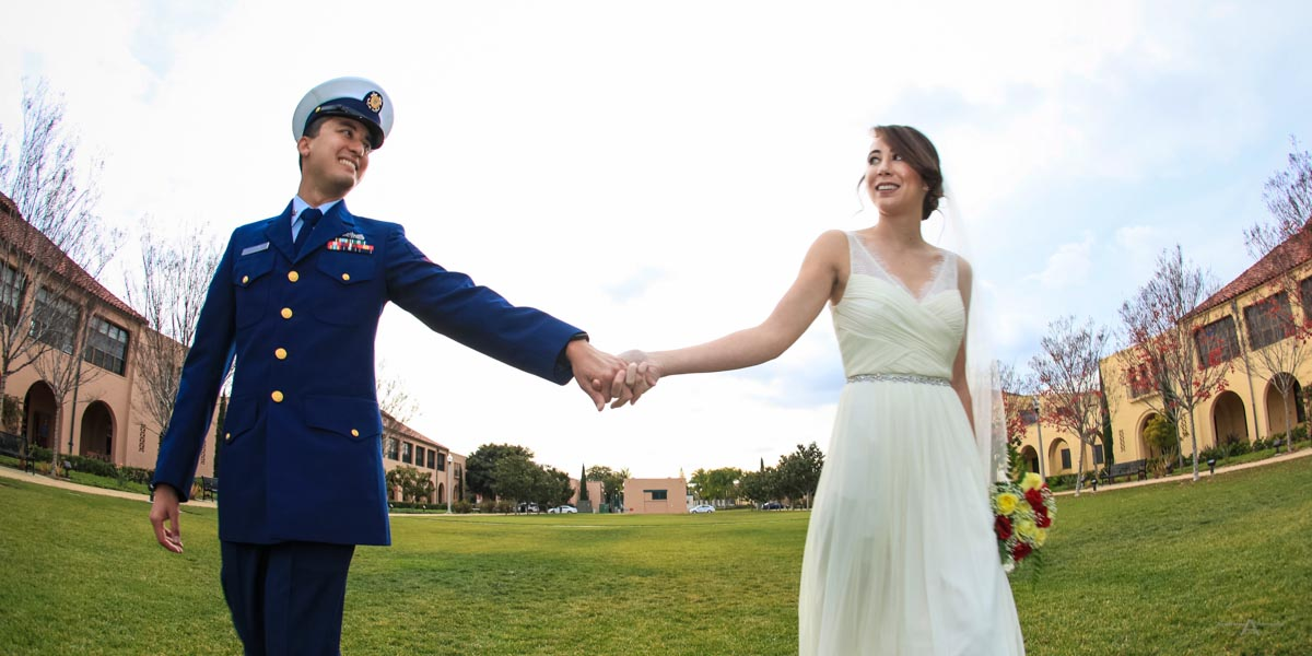 Liberty Station and San Diego Bay Yacht Wedding Photography for Loren and Cody by AbounaPhoto