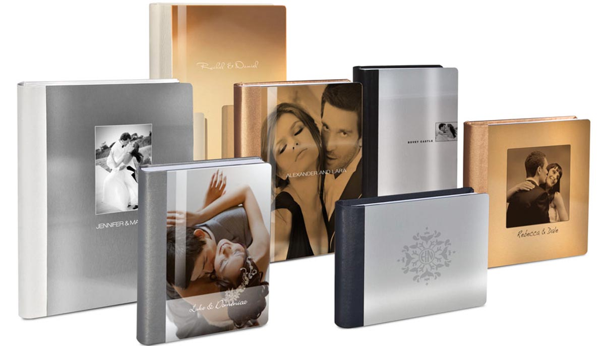 Metal wedding album covers offered by Wedding Photographers in San Diego Andrew Abouna