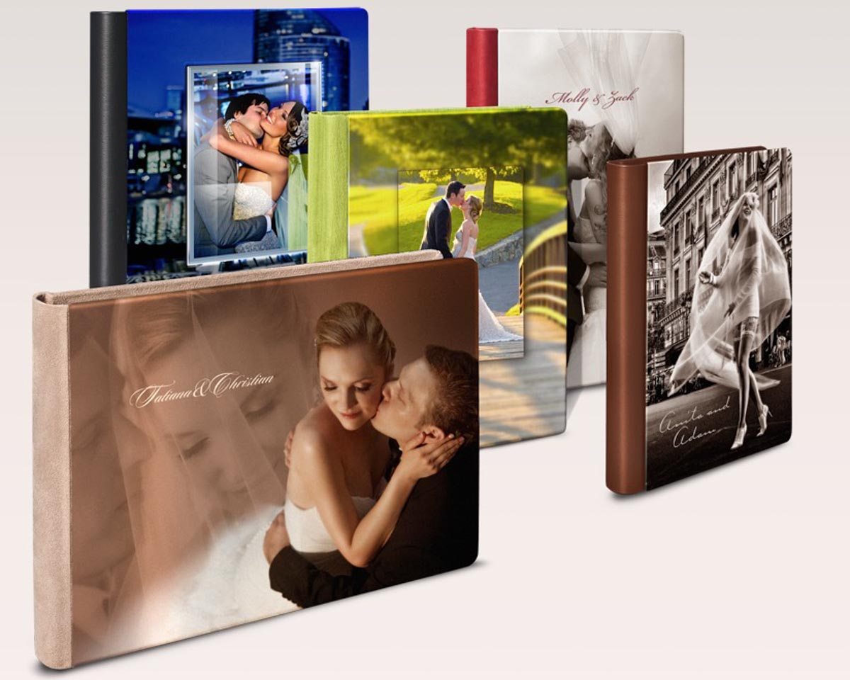 Silk wedding album covers offered by Wedding Photographers in San Diego Andrew Abouna