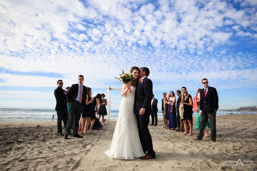 Rachel and Dan Mission Beach Wedding Photography by San Diego Photographer Andrew Abouna