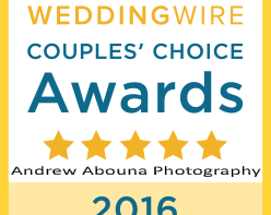 WeddingWire Couples Choice Award of Top Wedding Photographer Andrew Abouna - AbounaPhoto 2