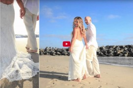 Wedding Photo Book Album of Carlsbad Beach Wedding Photographer San Diego - AbounaPhoto
