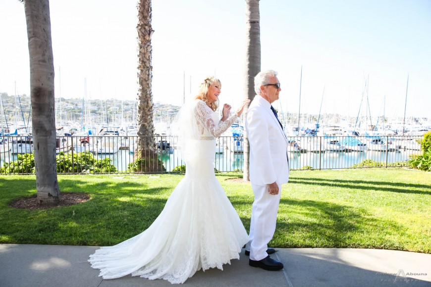 Darcie and Rick Best Western Island Palms Wedding Beside the Marina and Bay by San Diego Wedding Photographers Andrew Abouna